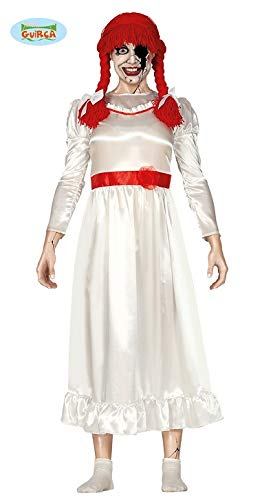 Guirca Besessene Puppe Annabelle Halloween Kostüm Damen