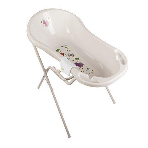 Hippo White XXL Baby Bathtub 100 cm + Stand + Wash Mitt