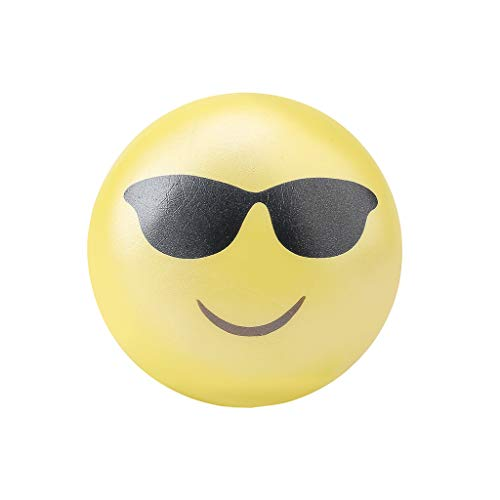 1 Pcs Emoticon Puppe mit Sonnenbrille,Super Soft Cut Squeeze Toys Langsam steigender Charme Kawaii Schlüssel Ketten Charms Kinder Duftendes Jumbo Stress Relief Dekompressionsgeschenk für Mädchen