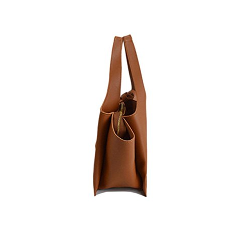 Frauen-Mädchen-beiläufige Nylon-Rucksack-Geldbeutel Reisen Arbeit College-Shool Tasche Zipper Handtasche Brown