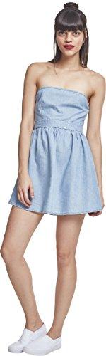 Urban Classics Damen Kleid Ladies Denim Bandeau Dress, Blau (Bluewash 01403), 34 (XS) Preisvergleich