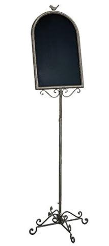 Clayre & Eef 50202 Kreidetafel Restaurant-Tafel ca. 43 x 43 x 154 cm