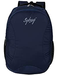 Sybag Navy Blue Casual Laptop Bag