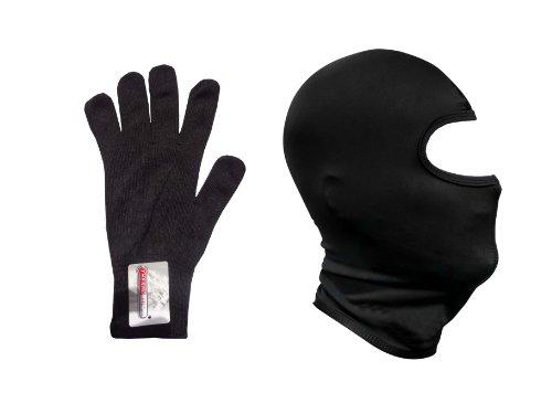 Thermo-Sturmhaube und thermale Innen-Handschuhe