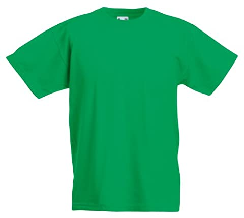 Fruit of the Loom Kid's valueweight tee Kelly Green 12-13 Yrs