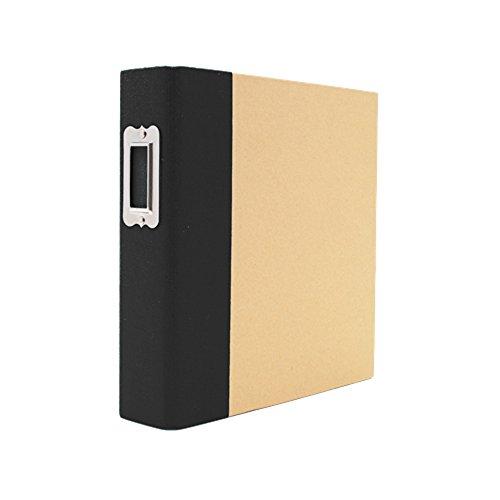 Unbekannt Simple Stories Karton Snap Binder 6x 20,3cm, Schwarz - 6x6 Binder