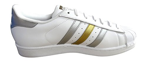 adidas originaux superstar baskets pour hommes S31641 Baskets white silver gold BB4882
