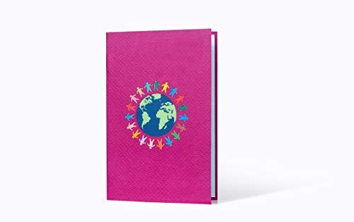 3 D Karte mit Umschlag Welt Regenbogen Kreis Kinder Grußkarte Grüße Geburtstagskarte zum Beschriften für jeden Anlaß