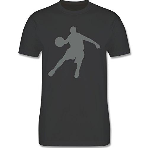Basketball - Basketballspieler - Herren Premium T-Shirt Dunkelgrau