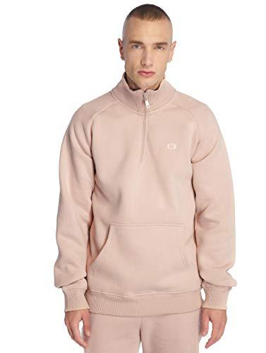 Criminal Damage Herren Pullover Muscle Half Zip rosa XL