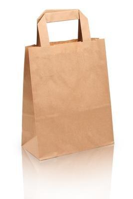 250 Papiertragetaschen Papiertaschen Tüten Papiertüten braun 18+8x22cm Tragetaschen