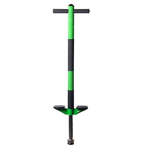 Schaumstoff Pogo Stick Indoor Outdoor Fun Powered Jump Stick für die children- Unterstützung 60bis 90Pfund, grün (Pogo Stick Grün)