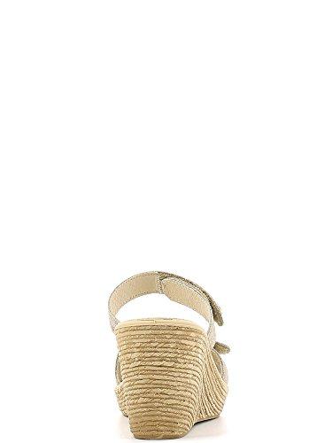 Enval 5979 Sandalo zeppa Donna Platino