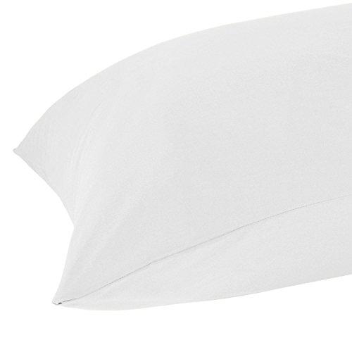 Homescapes Ägyptische Baumwolle Weiß Körper Kissen Fall 100% Baumwolle 200Fadenzahl Perkal Für Umstands-/Schwangerschaft Kissen