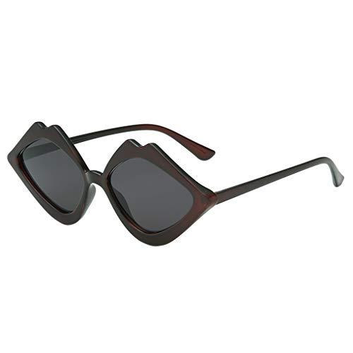 iCerber sonnenbrillen Chic Lässig Einzigartig Damen Mode Jelly Sonnenschutz Sonnenbrille Integrierte Candy Color Brille UV 400 ❀❀2019 Neu❀❀(Schwarz)