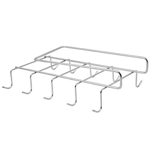 Diealles Portavasos Colgador para Tazas Plata Cromo Almacenamiento de Cocina 28 * 19 * 6,5CM