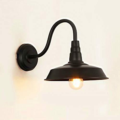 Glighone Apliques de Pared Lámpara Vintage 40W Luz Industrial Estilo Retro Casquillo E27, La Carcasa de Fuera Negra