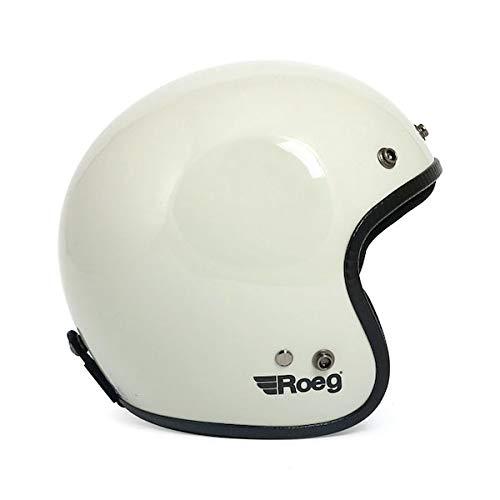 Helm Jet Roeg Helmet Fog White glänzend ECE Biker Custom M Fog White