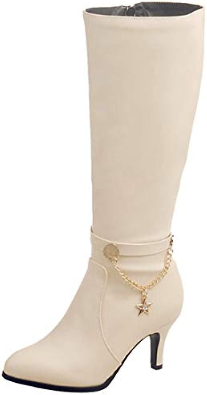 ba04474047ae Vitalo Womens Mid Calf Boots 29412 High Heel Boots Zip Up Shoes Autumn  Winter Shoes B07HKQ2TP4 Parent b4f7449