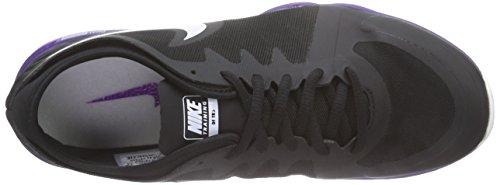 Nike Dual Fusion Tr 3, Chaussures de Fitness femme Noir - Schwarz (Black/White/Court Purple/Vivid Purple)
