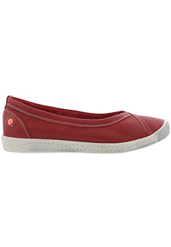 Softinos Damen Ilma Smooth Geschlossene Ballerinas Rot (Red)