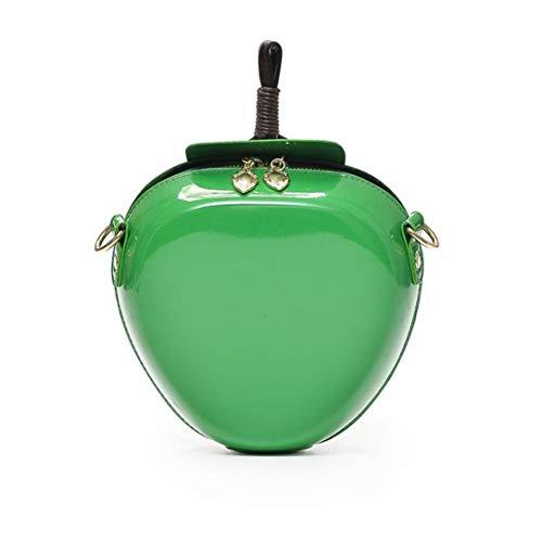 Eastery Handtaschen Damen Mode Apfel Handtasche Reißverschluss Tasche Schultertasche Shopper Frauen Einfacher Stil Kuriertasche Tragbar Und Praktisch (Color : Grün, Size : One Size)