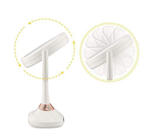 Schminkspiegel mit Licht LED-Vergrößerungsspiegel 10-fach beidseitiger Schminkspiegel mit Lichtern, 360 ° -Drehung, Schminkspiegel mit natürlichem weißem Licht -