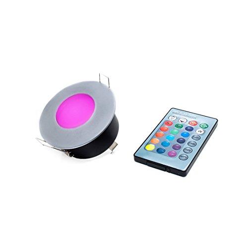 Foco empotrable LED RGB 3W 12V, para ambientes húmedos, ducha, baño, luz, cromoterapia