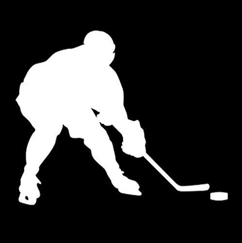 RJSYT Autoaufkleber Hockey Puck Muster Aufkleber Laptop Wasserflaschen Gepäck Skateboard Phone Car Erwachsene Teenager Jungen und Mädchen wasserdicht 2PCS -