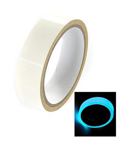 ndes Klebeband - Wasserdicht Verschleißfest - Fluoreszierendes Phosphor Leuchtband Markierungsband - für Deko, Sicherheitszeichen, Design usw. 2x5m, Blaues Licht, TKD5033-2x ()