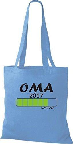 ShirtInStyle Sac en tissu Sacs en coton Chargement OMA 2017 - Orange, 38 cm x 42 cm bleu clair