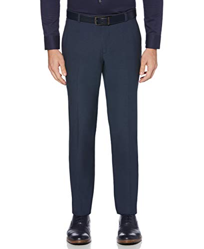 Perry Ellis Hosen (Perry Ellis Herren Portfolio Very Slim-Fit Stretch Heathered Pants Unterhose, Navy, 36W / 34L)