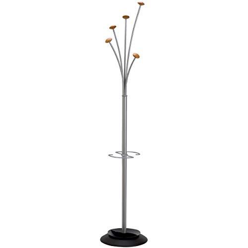 Alba Garderobenständer FESTIVAL/PMFEST 187x38 cm metallicgrau Metall/Holz