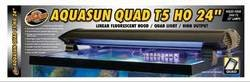 Zoo Med Laboratories azmaf436AquaSun T5HO Quad Kapuze für Aquarium Licht, - T5ho-lampen