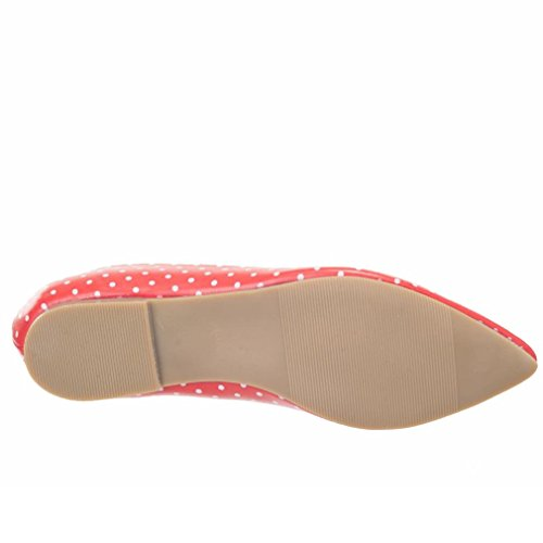Banned, Ballerine donna Rosso rosso One Size Rosso (rosso)