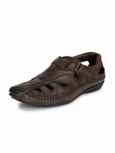 EL PASO Men's Brown Outdoor Sandals-9 UK (43 EU) (10 US) (5101Brown-09)