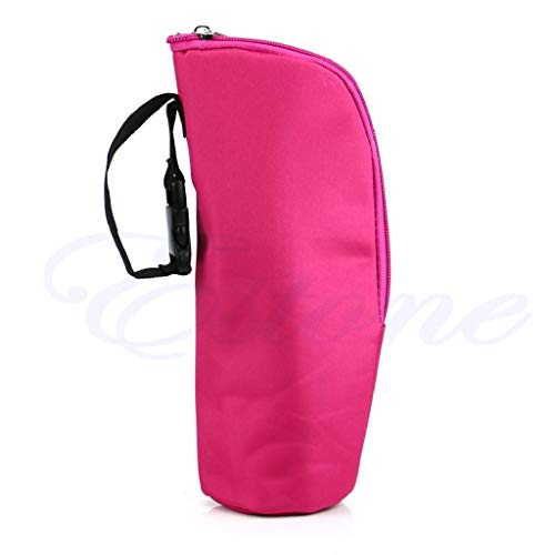 XTYaa - Borsa termica per biberon, da appendere al passeggino Rose Pink