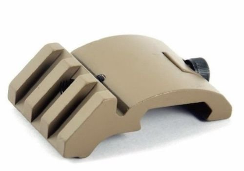 Earth-dots (HWZ Ultra Low Profile Offset Picatinny Rail Mount 45 Degree 20mm Side FDE DE Dark Earth for Red Dot)