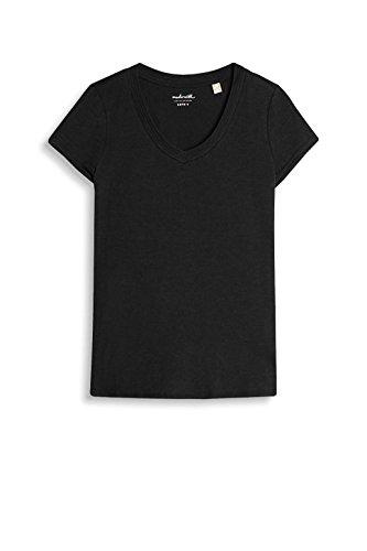 Esprit 027ee1k041, T-Shirt Femme Noir (Black)