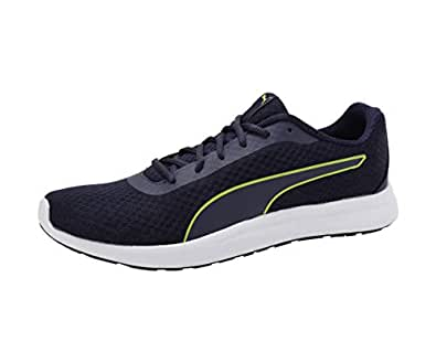 Puma Men's Propel El Idp Peacoat-Limepunch White Black Sneakers-10 UK (44.5 EU) (11 US) (36848305)