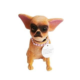 Anik-Shop WACKELHUND Chihuahua 13cm Wackelkopf Welpe Hund Autohund Wackelfigur Wackelkopffigure Wackel 19 (Braun)