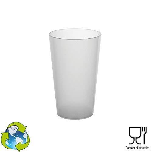 GOBELET CUP 50 Gobelets Réutilisables - en Plastique Polypropylène Rigide 30cl (Givré)