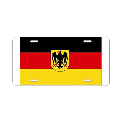 Preisvergleich Produktbild mit Nummernschild Deutschland COA-Aluminium Nummernschild Standard,  mehrfarbig