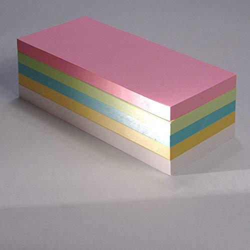 """Office Line Moderationskarten \""""Rechtecke\"""", farblich sortiert, 130 g, Format: 20 x 9,5 cm, 500 Stück"""