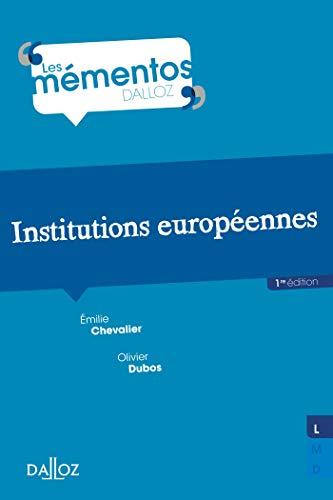 Institutions européennes - Nouveauté par Olivier Dubos
