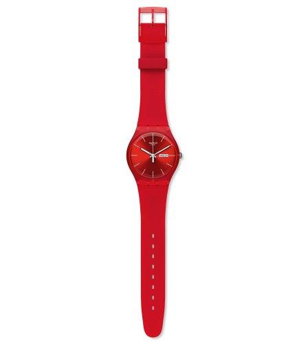 Swatch Herren-Armbanduhr Red Rebel Analog Quarz SUOR701