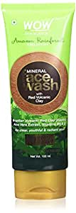 WOW Amazon Rainforest Collection - Mineral Face Wash with Red Volcanic Clay - No Parabens, Sulphate, Silicones and Color, 100 ml