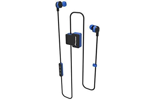 Pioneer CL5BT In-Ear Sport Kopfhörer mit Bluetooth (ClipWear), Musikwiedergabe bis zu 8 Stunden, IPX4 Spritzwassergeschützt, Freisprechfunktion, Inline-Fernbedienung, für Apple und Android, blau
