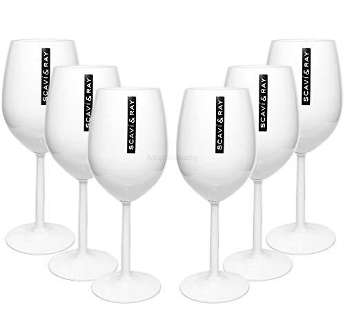 Scavi & Ray Ice Glas Gläser-Set - 6X Champagner/Wein Ice Gläser Weiss (Champagner-set Von 6)
