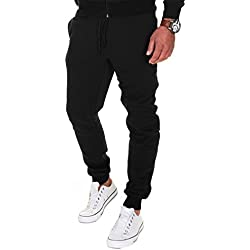 MERISH Pantalones Jogger Hombre Deportivos Joggers Modell 211 Negro